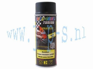 SPUITBUS SPRAY-PLAST 400 ML  MATZWART DUPLI COLOR
